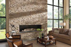 Использование декоративного камня для отделки интерьера