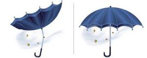 Как выбрать прочный зонт