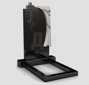 Памятники на могилу из черного гранита от фабрики «Данила-Мастер»